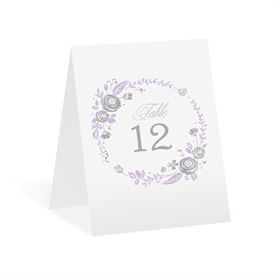 Roses and Whimsy - Silver Foil - Table Number Card