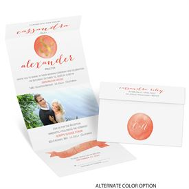 Modern Glow - Gold Foil - Seal and Send Invitation