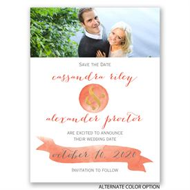 Modern Glow - Gold Foil - Save the Date Card