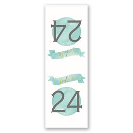 Modern Glow - Gold Foil - Table Number Card