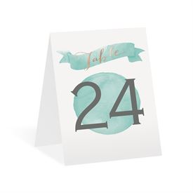 Modern Glow - Rose Gold Foil - Table Number Card
