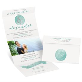 Modern Glow - Silver Foil - Seal and Send Invitation