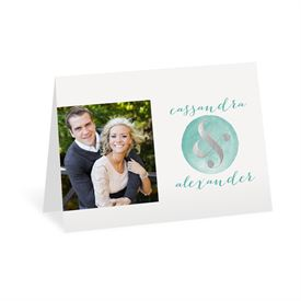 Modern Glow - Silver Foil - Thank You Card