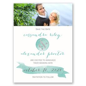 Modern Glow - Silver Foil - Save the Date Card