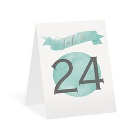 Modern Glow - Silver Foil - Table Number Card
