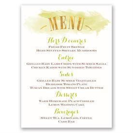 Majestic Oak - Gold Foil - Menu Card