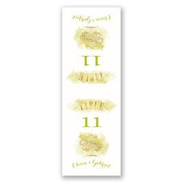 Majestic Oak - Gold Foil - Table Number Card