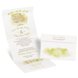 Majestic Oak - Rose Gold Foil - Seal and Send Invitation