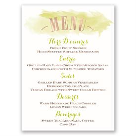Majestic Oak - Rose Gold Foil - Menu Card