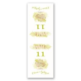 Majestic Oak - Rose Gold Foil - Table Number Card