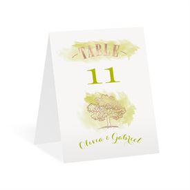 Majestic Oak Foil Table Number Card
