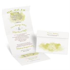 Majestic Oak - Silver Foil - Seal and Send Invitation