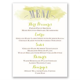 Majestic Oak - Silver Foil - Menu Card