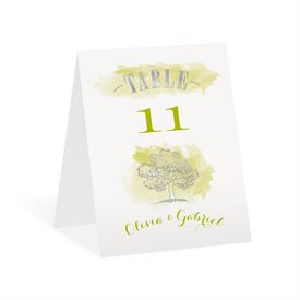 Majestic Oak - Silver Foil - Table Number Card