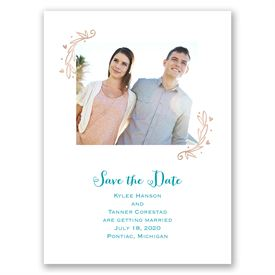 Naturally Heartfelt - Rose Gold Foil - Save the Date Card