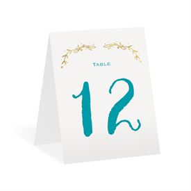 Naturally Heartfelt - Gold Foil - Table Number Card