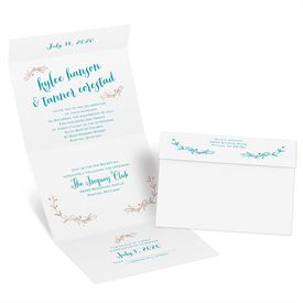 Naturally Heartfelt - Rose Gold Foil - Seal and Send Invitation