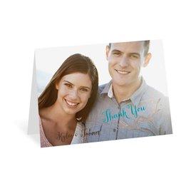 Naturally Heartfelt - Rose Gold Foil - Thank You Card