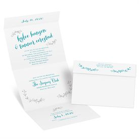 Naturally Heartfelt - Silver Foil - Seal and Send Invitation