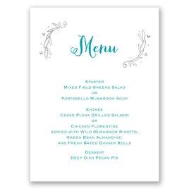 naturally heartfelt foil menu card invitations by dawn