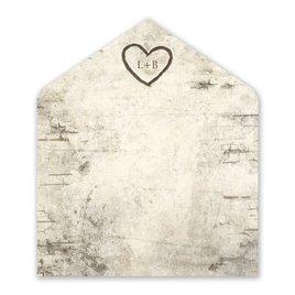 Wedding Envelope Liners: Birch Tree Carvings Envelope Liner