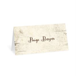 birch tree carvings place card - Wedding Placement Cards