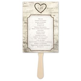 Wedding Program Fans: 