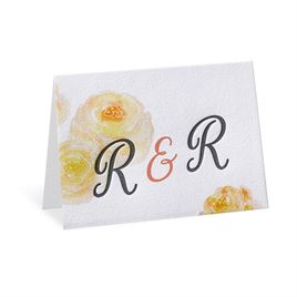 Watercolor Blossoms - Corabell - Letterpress Thank You Card