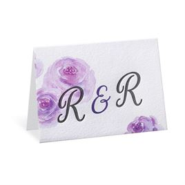 Watercolor Blossoms - Pastel Purple - Letterpress Thank You Card