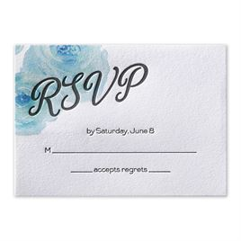 Watercolor Blossoms - Palm - Letterpress Response Card