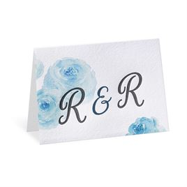 Watercolor Blossoms - Palm - Letterpress Thank You Card