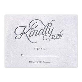 Chic Lace - Letterpress Response Card