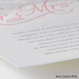 Chic Lace - Letterpress Invitation