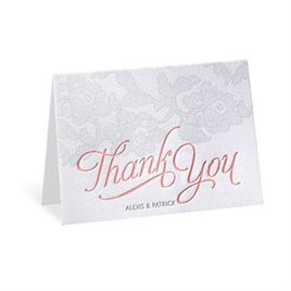 Chic Lace - Letterpress Thank You Card