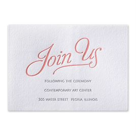 Chic Lace - Letterpress Reception Card