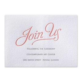 Chic Lace - Letterpress Reception Card