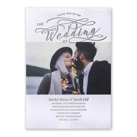 Photo Wedding Invitations: Modern Pair Letterpress Invitation