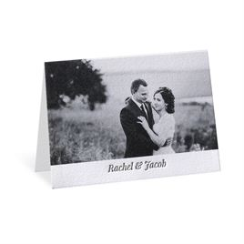 Modern Pair - Letterpress Thank You Card