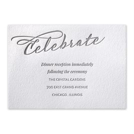Modern Pair - Letterpress Reception Card