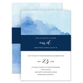 Wedding Invitations with Belly Bands: 
