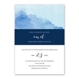 Love Embraced - Pastel Blue - Invitation