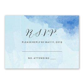 Love Embraced - Pastel Blue - Response Card