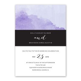 Love Embraced - Pastel Purple - Invitation