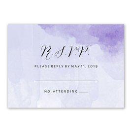 Love Embraced - Pastel Purple - Response Card