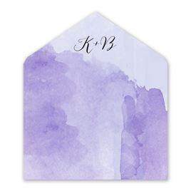 Love Embraced - Pastel Purple - Envelope Liner