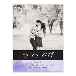 Love Embraced - Pastel Purple - Save the Date Card