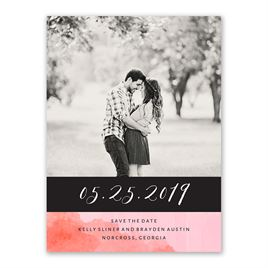 Love Embraced - Pastel Pink - Save the Date Card