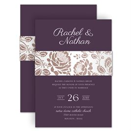 Floral wedding invitations invitations by dawn floral wedding invitations vintage flair foil invitation stopboris Image collections