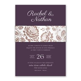 Vintage Flair - Rose Gold - Foil Invitation