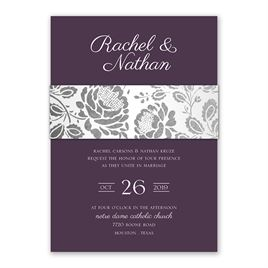 Vintage Flair - Silver - Foil Invitation